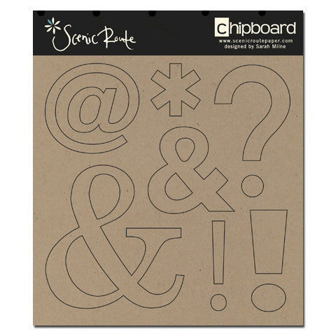 Scenic Route Raw Chipboard - Punctuation