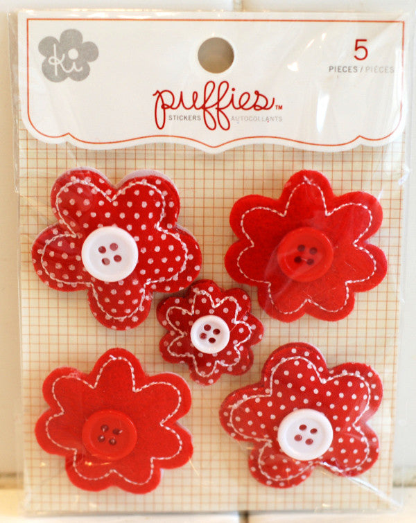 ki Puffies - Red Flowers