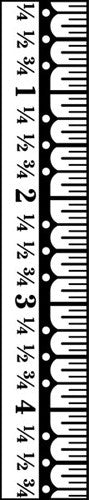 Jenni Bowlin Acrylic Stamp - Ruler Border