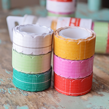 Hazel and Ruby Scallop Washi Set Colorful Ledgers