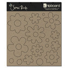 Scenic Route Raw Chipboard - Flower Shapes