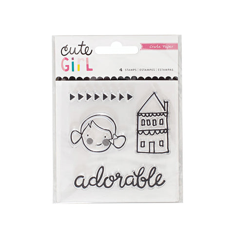 Crate Paper Cute Girl Stamp