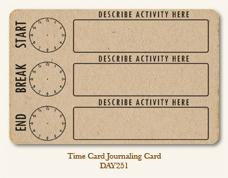 MME Life Stories Journaling Card - Time Card