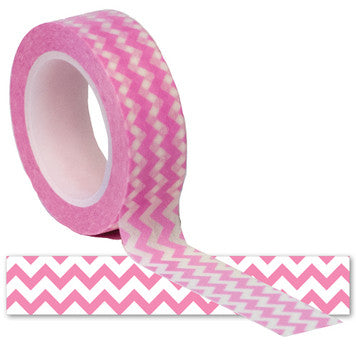Queen and Co. Trendy Tape Pink Chevron
