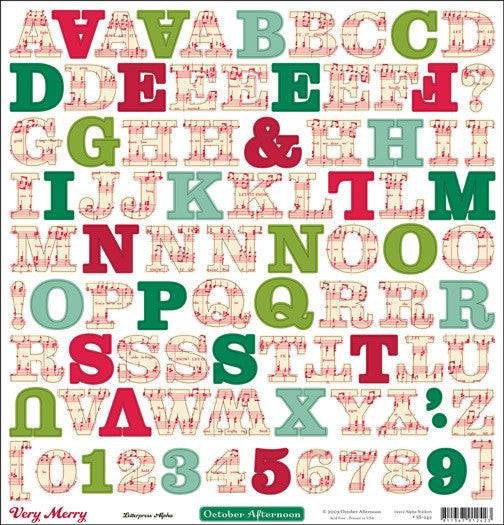October Afternoon Very Merry 12x12 Alphabet