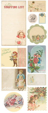 Melissa Frances Home For The Holidays Chipboard - Vintage