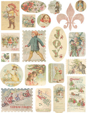 Melissa Frances Home For The Holidays Cardstock Stickers - Vintage