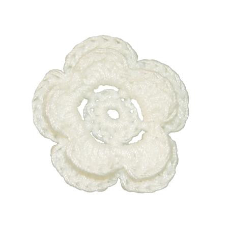 Imaginisce Crocheted Blossoms - White
