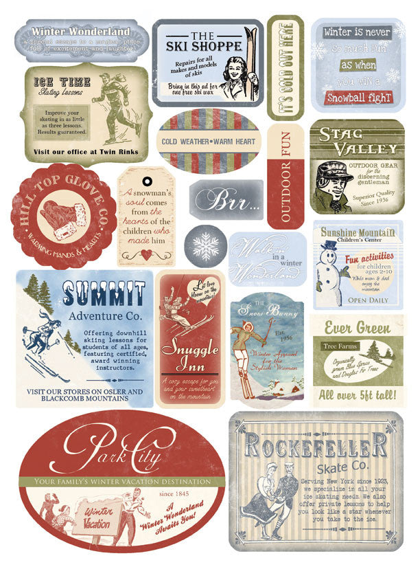 Melissa Frances Cardstock Stickers-Winter
