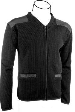 V-Neck Fleece-lined Sweater