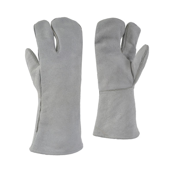 One Finger Cowsplit Leather Glove