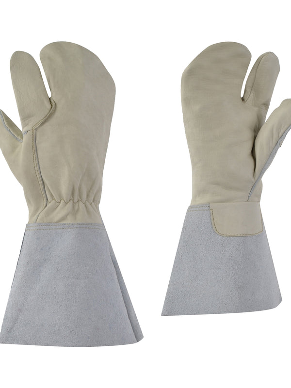 One Finger Cowgrain Leather Glove