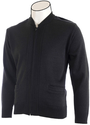 Crew Neck Zip-Front Commando Cardigan