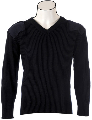 V-Neck 2X2 Rib Commando Sweater