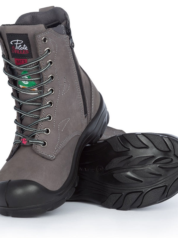| S558 8″ Work boots with zipper – S558