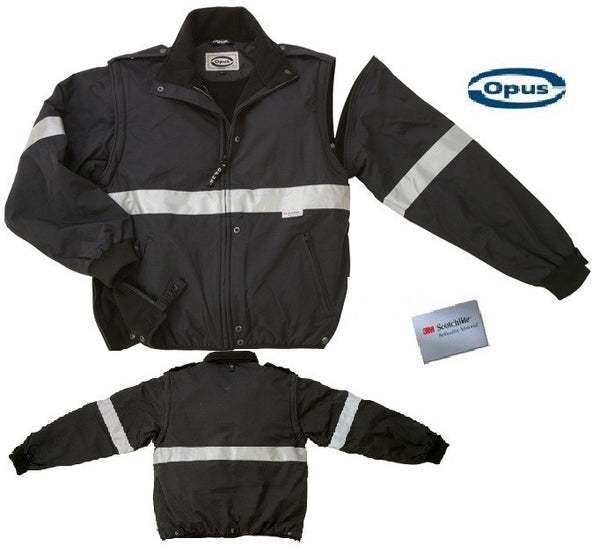 FJ706 Fleece Safety Rain Jacket