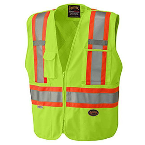 Hi-Viz Safety Tear-Away Mesh Back Vest