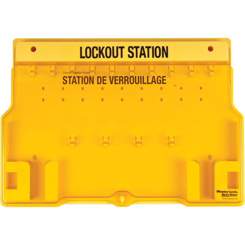 10-Lock Padlock Station, English/French, Unfilled (Board Only)