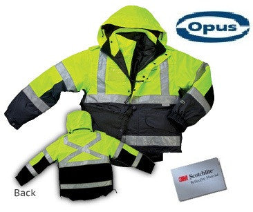 SJ62 Two Tone Six-in-One Rain Safety Jacket