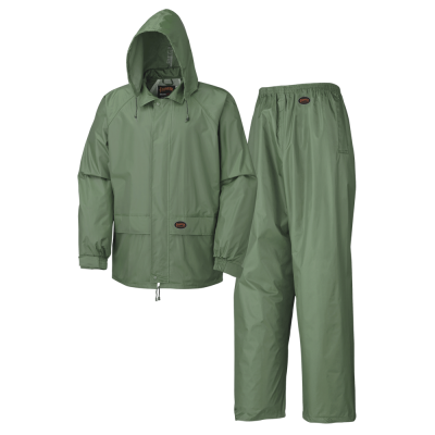 WATERPROOF 2-PIECE RAINSUITS - POLY/PVC - RETAIL POLY BAG