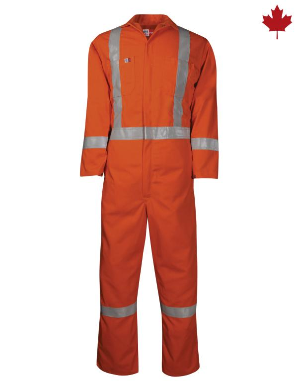408US7 Unlined Reflective Coverall FR