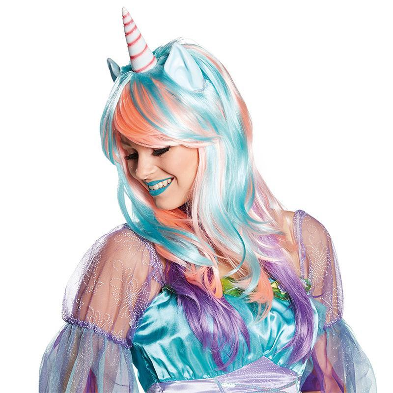 Rainbow Unicorn Wig for Cosplay Party