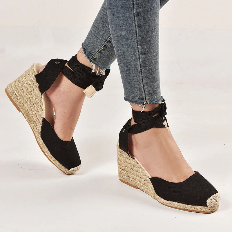 Leda Raffia Shoes