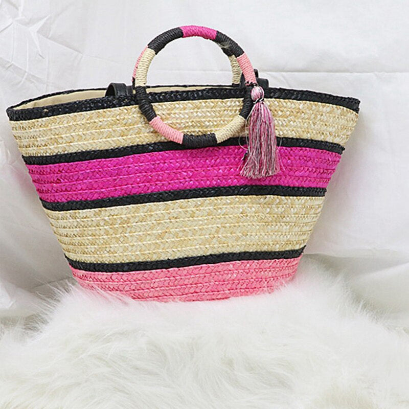 Monet Raffia Bag