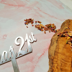 Custom Personalised Name + Age Cake Topper