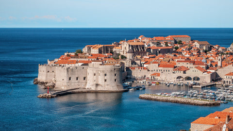 Dubrovnik Croatia Seaside City Canvas
