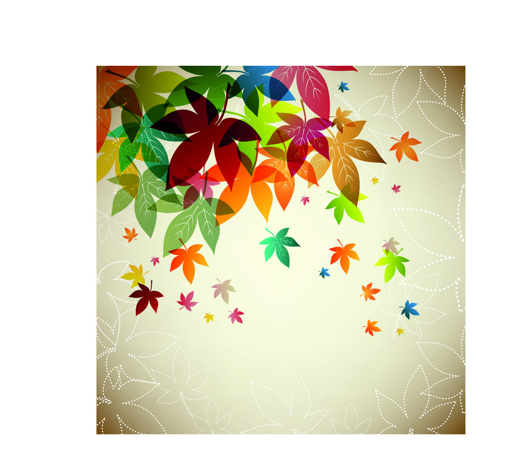 custom wall murals cheap wall murals by canvaswallpaper multi color falling maple leaves wall mural