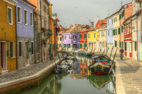 Venice Canal With Gondola Canvas