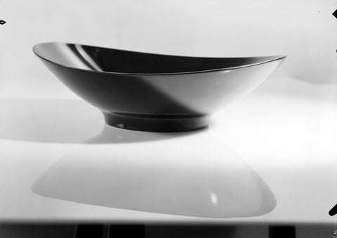 Black Artisanal Bowl Black and White Canvas