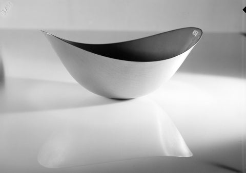 White Artisanal Bowl Black and White Wall Mural