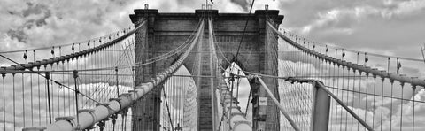 Brooklyn Bridge Black and White Canvas