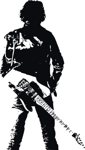 Musician With A Guitar Silhouette Wall Mural