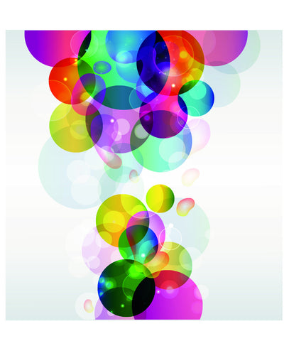 Multicolor Bubbles Collage Wall Mural