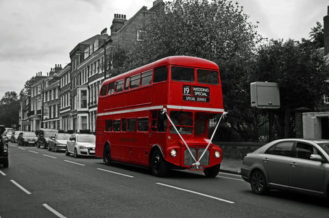 Classic Red Double Decker Bus Wall Mural
