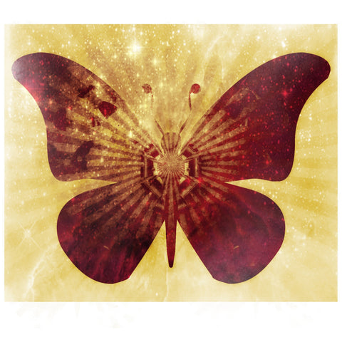 Sparkling Butterfly Silhouette Wall Mural
