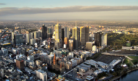 Melbourne, Australia City Skyline Canvas