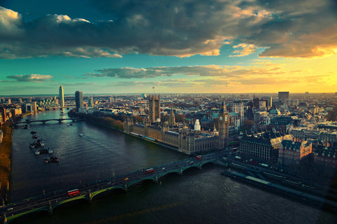 London, England City Skyline Canvas
