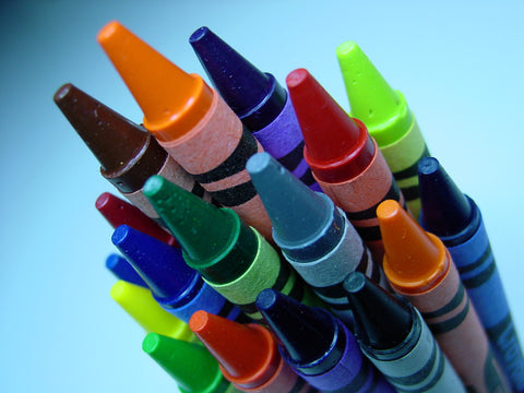 Rainbow of Crayons Canvas