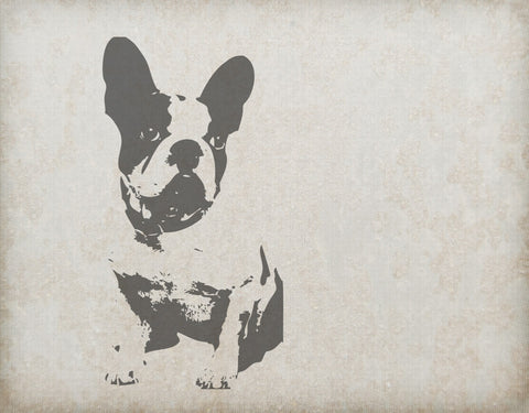Boston Terrier Silhouette Wall Mural