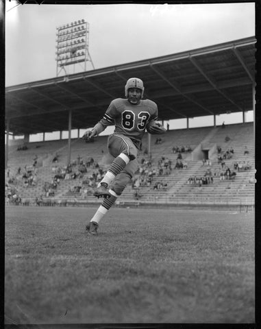Vintage Football Player Posing Canvas