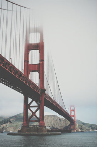 Golden Gate in the Fog Wall Mural
