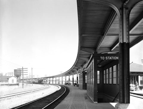 Train Station Canvas
