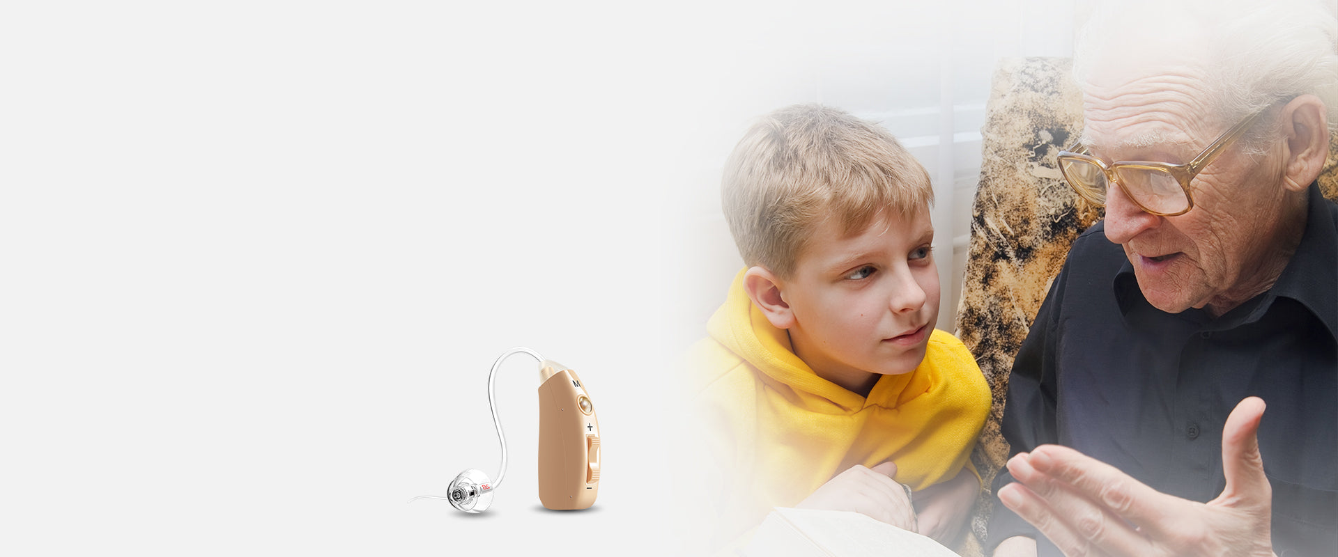 JINGHAO Rechargeable JH-A39 Hearing Aid-Digital Sound Amplifier Pair with USB Portable Battery Case-Hearing Aid