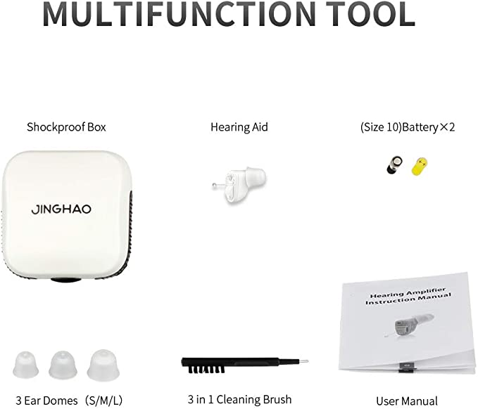 Jinghao JH-A17 in-ear noise reduction miniature hearing aid, lightweight and invisible.