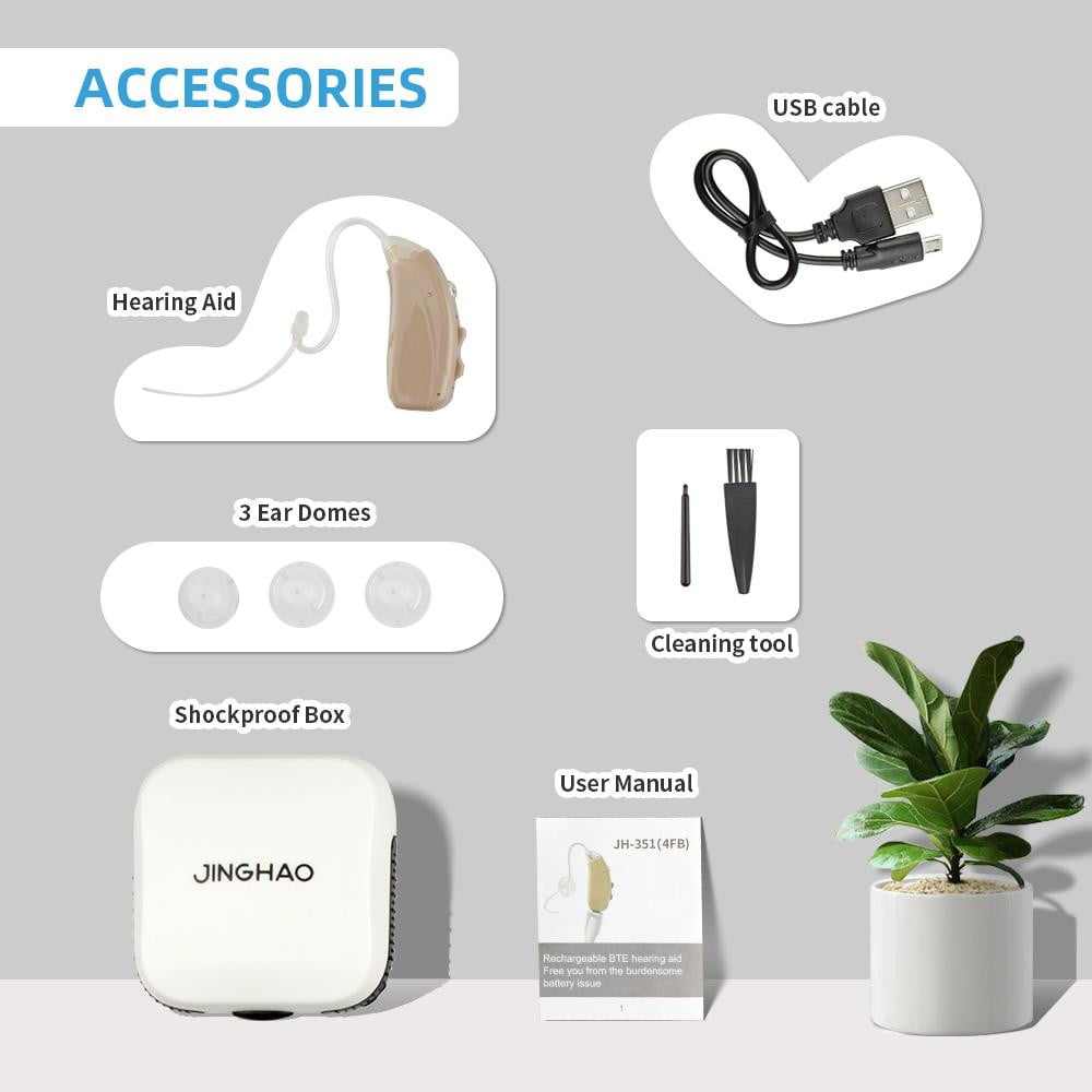 Jinghao JH-3514FB rechargeable digital hearing aid intelligent noise reduction.