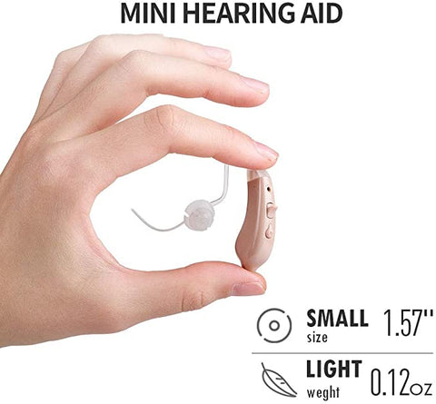 JINGHAO Hearing Amplifier Aids for Seniors, Digital Sound Amplifier Noise Reduction for Ears with Battery A13, Fit to Either Ear - JINGHAO